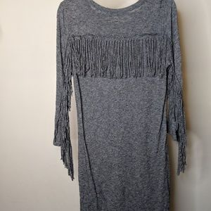 Zadig & Voltaire Dresses - Gray Zadig & Voltaire Fringe Dress - size Small